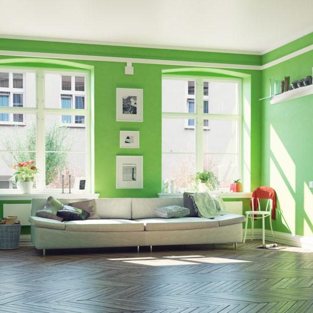 Inred med grönt