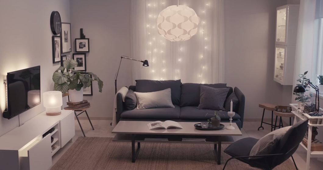 belysning vardagsrum inspiration