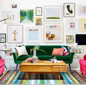 Inred ditt vardagsrum med tavlor