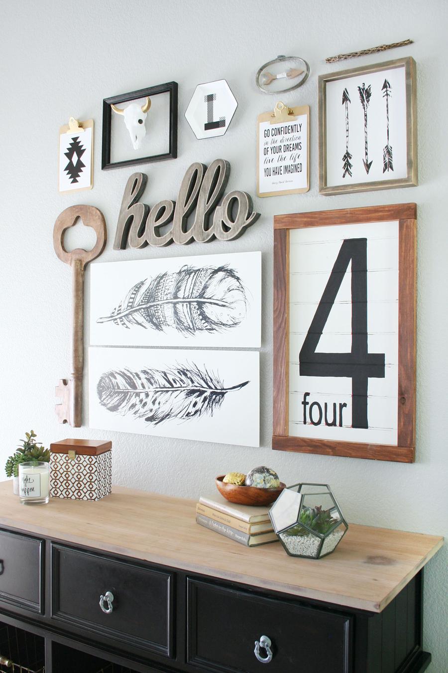 Så skapar du en foto & konst-vägg steg för steg