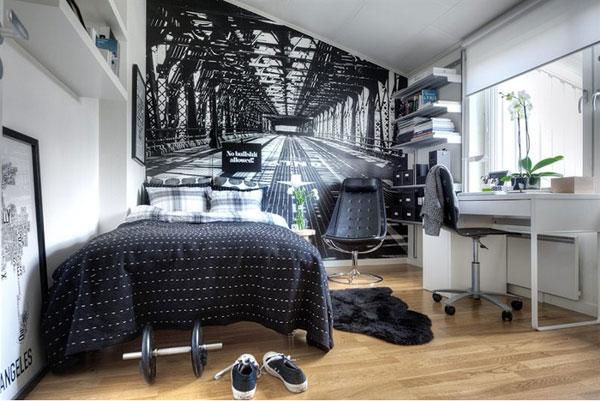 Inredning av litet sovrum