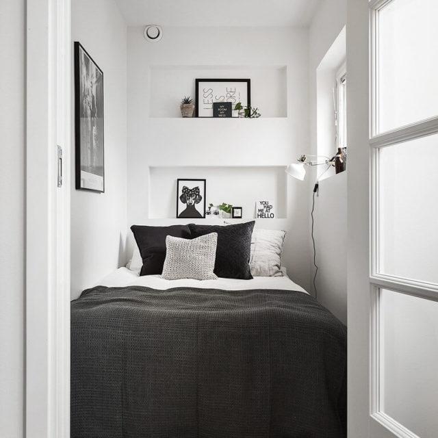 Inredning för det lilla sovrummet